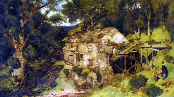 William James Blacklock An Old Mill Near Haweswater - Canvas Art Print