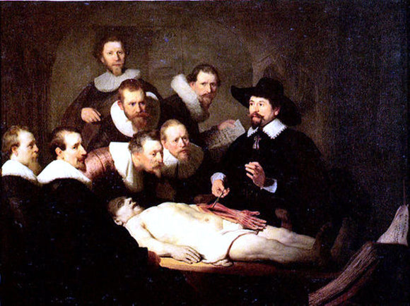 Rembrandt Van Rijn Anatomy of Doctor Nicolaes Tulp - Canvas Art Print