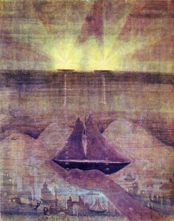 Mikalojus Ciurlionis Andante Sonata of the Sea - Canvas Art Print
