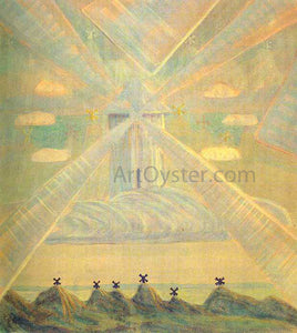 Mikalojus Ciurlionis Andante Sonata of the Spring - Canvas Art Print