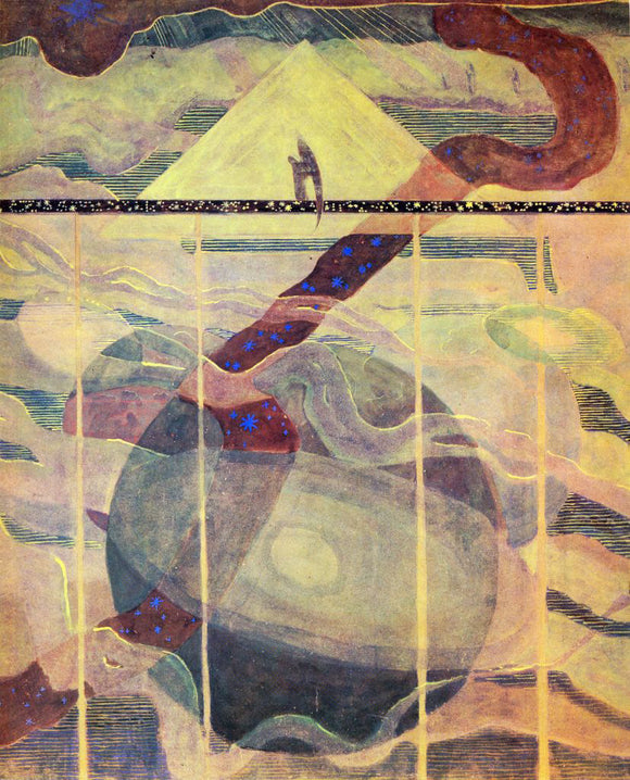 Mikalojus Ciurlionis Andante Sonata of the Stars - Canvas Art Print