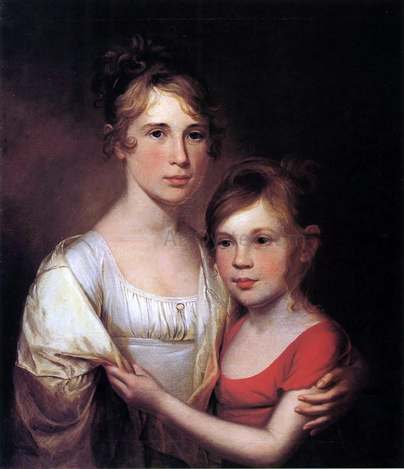 James Peale Anna and Margaretta Peale - Canvas Art Print