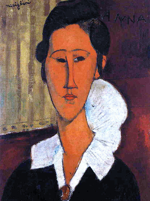 Amedeo Modigliani Anna (Hanka) Zborowska - Canvas Art Print