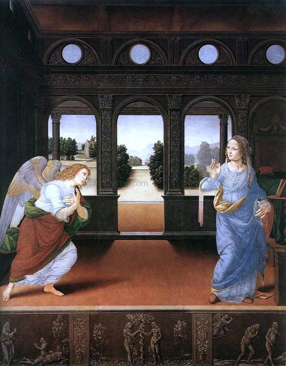 Lorenzo Di Credi Annunciation - Canvas Art Print