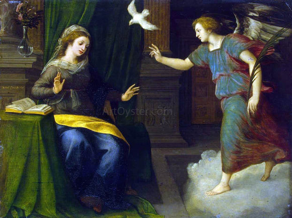 Michiel Van Coxcie Annunciation - Canvas Art Print