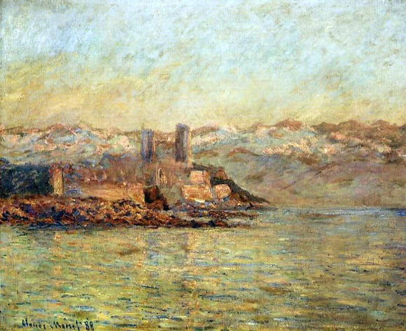 Claude Oscar Monet Antibes and the Maritime Alps - Canvas Art Print