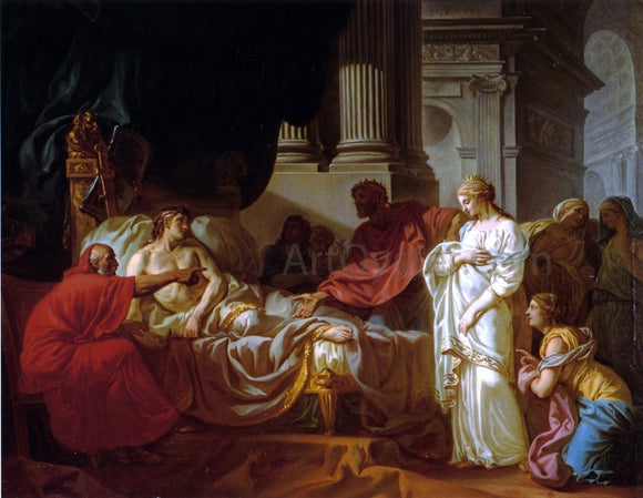 Jacques-Louis David Antiochus and Stratonice - Canvas Art Print