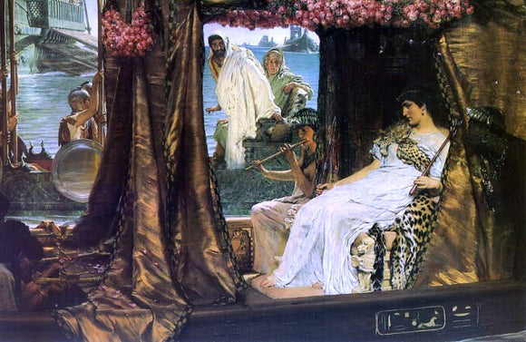 Sir Lawrence Alma-Tadema Antony and Cleopatra - Canvas Art Print