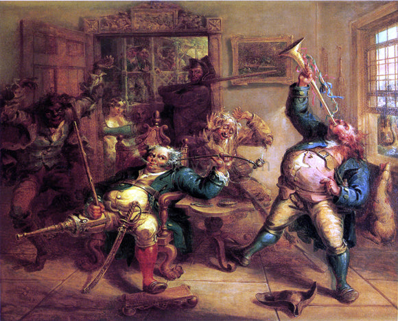 John Quidor Antony Van Corlear Brought into the Presence of Peter  Stuyvesant - Canvas Art Print