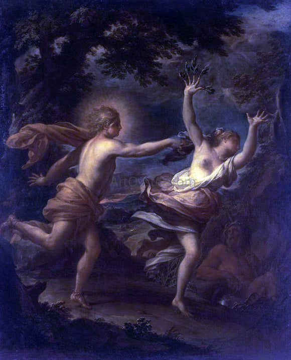 Francesco Trevisani Apollo and Daphne - Canvas Art Print