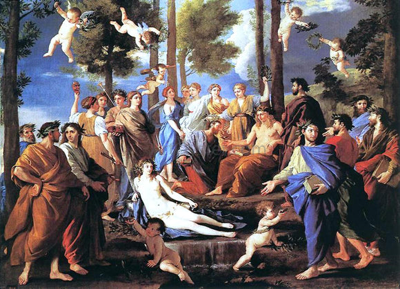 Nicolas Poussin Apollo and the Muses - Canvas Art Print