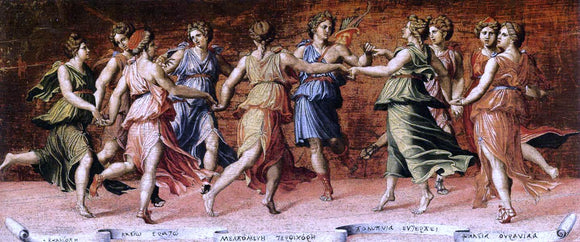 Baldassare Peruzzi Apollo and the Muses - Canvas Art Print