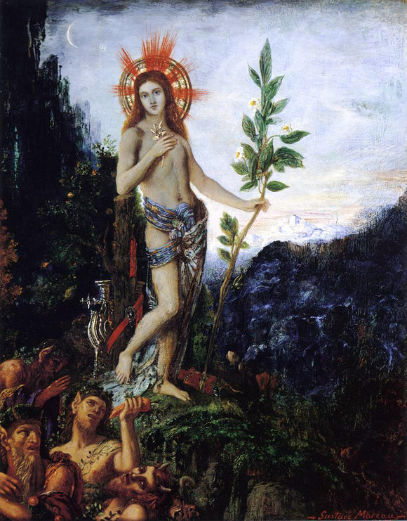 Gustave Moreau Apollo and the Satyrs - Canvas Art Print