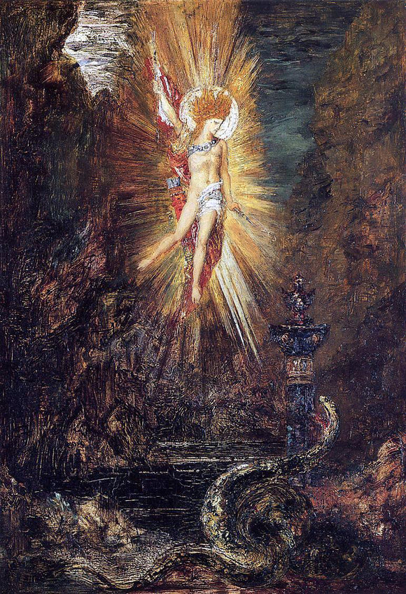 Gustave Moreau Apollo Vanquishing the Serpent Python - Canvas Art Print