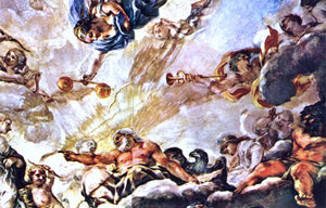 Pietro Da Cortona Apotheose of Aeneas (detail) - Canvas Art Print