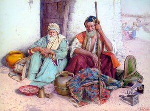 Guiseppe Signorini Arab Merchants - Canvas Art Print