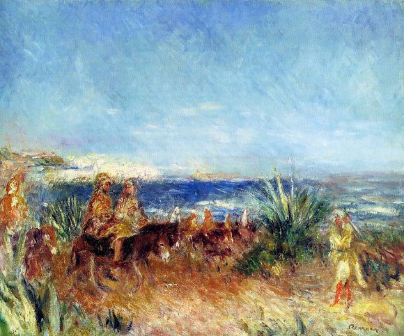 Pierre Auguste Renoir Arabs by the Sea - Canvas Art Print