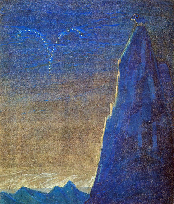 Mikalojus Ciurlionis Aries - Canvas Art Print