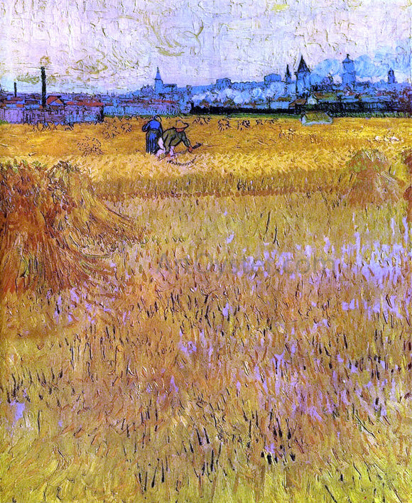 Vincent Van Gogh Arles: View from the Wheat Fields - Canvas Art Print