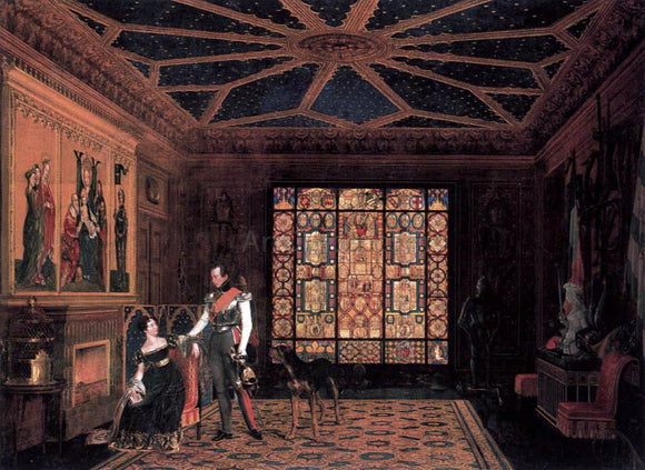 Carl Friedrich Zimmermann Armour Room in the Palace of Prince Frederick of Prussia - Canvas Art Print