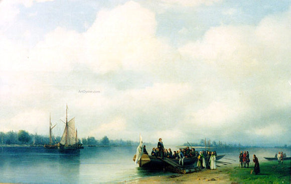 Ivan Constantinovich Aivazovsky Arrival Peter the First on River Neva - Canvas Art Print