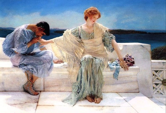Sir Lawrence Alma-Tadema Ask Me No More - Canvas Art Print