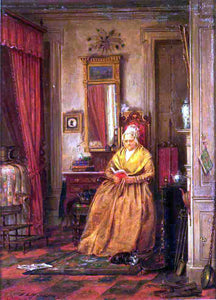 Edward Lamson Henry At Home with a Good Book - Canvas Art Print