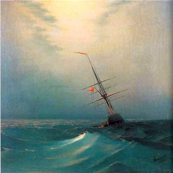 Ivan Constantinovich Aivazovsky At Night, Blue Wave - Canvas Art Print