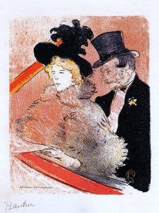 Henri De Toulouse-Lautrec At the Concert - Canvas Art Print