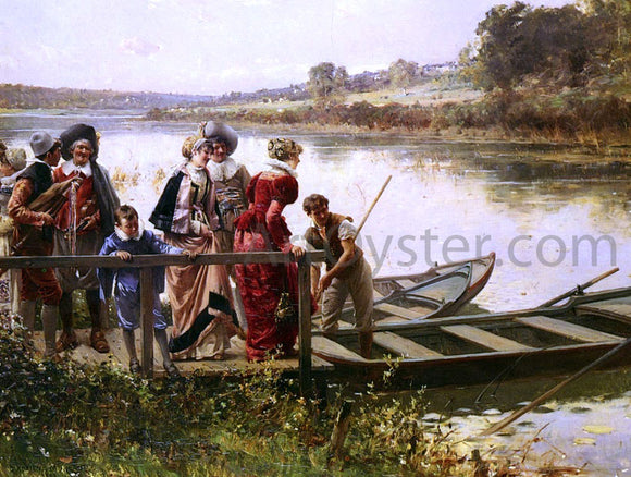 Adrien Moreau At The Ferry - Canvas Art Print