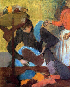 Edgar Degas At the Milliner's - Canvas Art Print