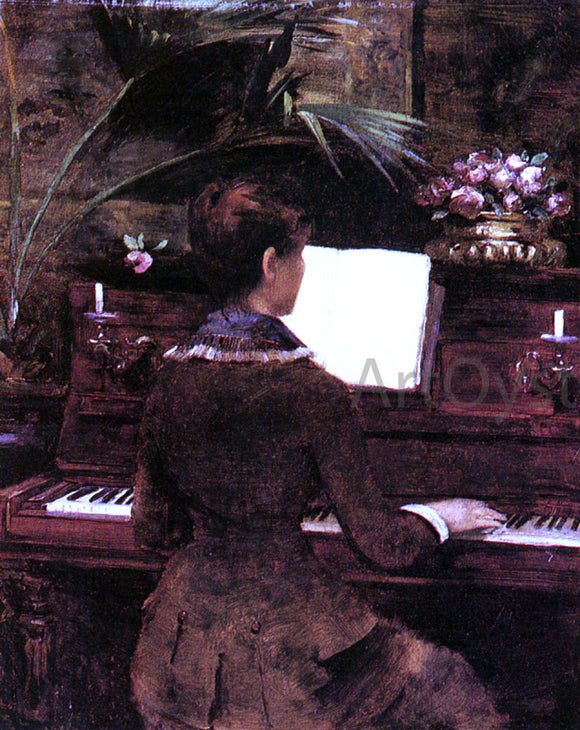 Louise Abbema At the Piano - Canvas Art Print