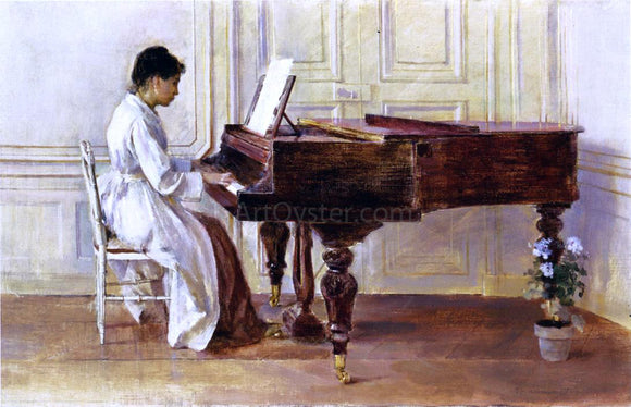 Theodore Robinson At the Piano - Canvas Art Print