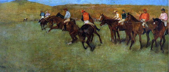 Edgar Degas At the Races - Before the Start - Canvas Art Print
