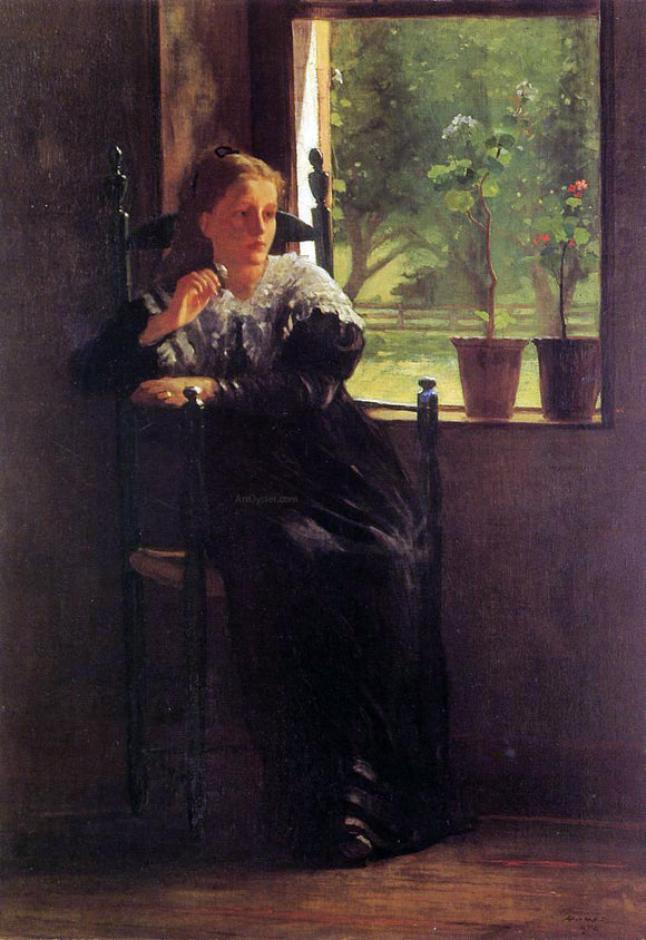 Winslow Homer At the Window - Canvas Art Print