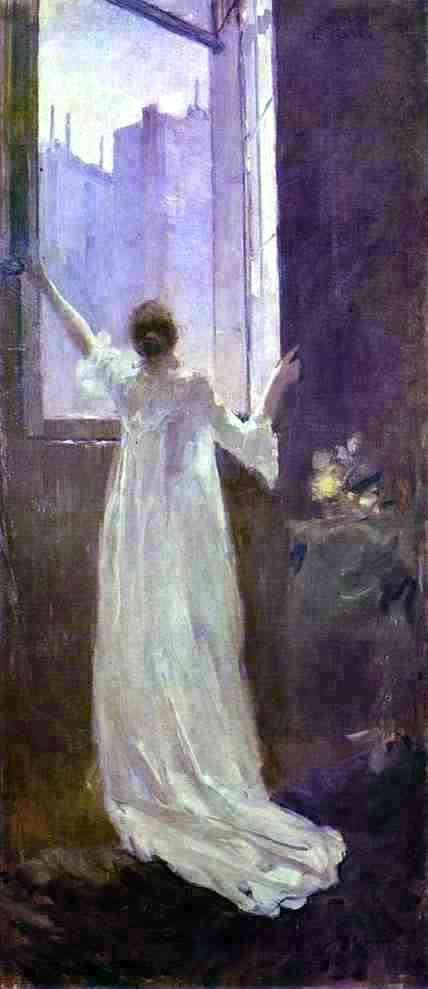 Constantin Alexeevich Korovin At the Window - Canvas Art Print