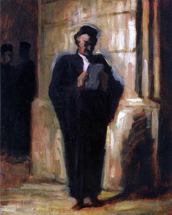 Honore Daumier Attorney Reading - Canvas Art Print