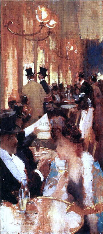 Willard Leroy Metcalf Au Cafe - Canvas Art Print