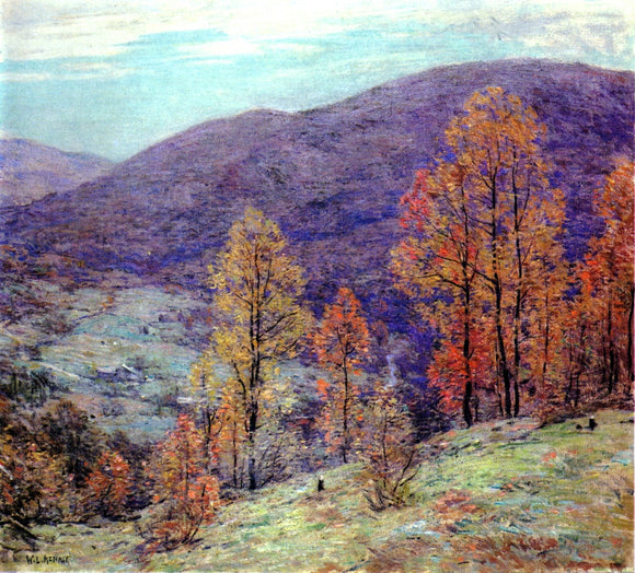Willard Leroy Metcalf Autumn Glory - Canvas Art Print