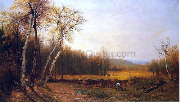 Jervis McEntee Autumn - Canvas Art Print