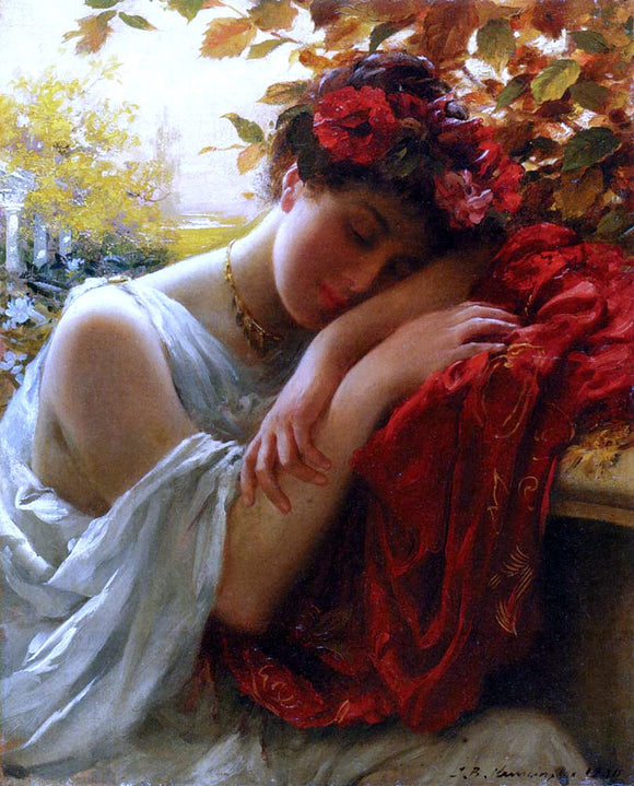 Thomas Benjamin Kennington Autumn - Canvas Art Print