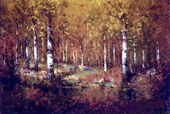 Julian Onderdonk Autumn Birches, Central Park - Canvas Art Print