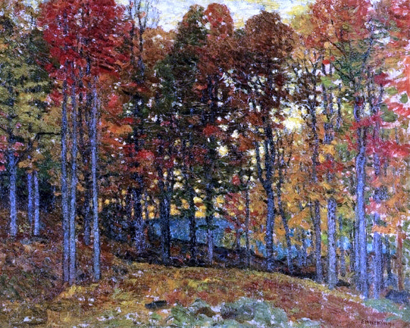 John Joseph Enneking Autumn Jewels - Canvas Art Print