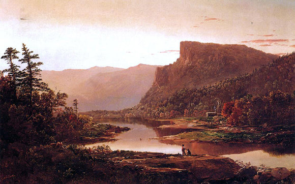 William Louis Sonntag Autumn Landscape - Canvas Art Print
