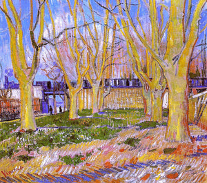 Vincent Van Gogh Avenue of Plane Trees near Arles Station - Canvas Art Print