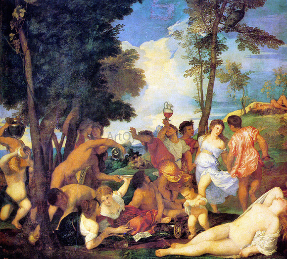Titian Bacchanal - Canvas Art Print