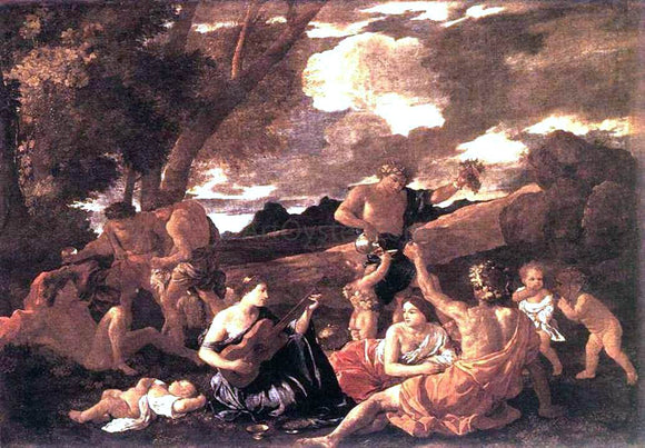 Nicolas Poussin Bacchanal: the Andrians - Canvas Art Print