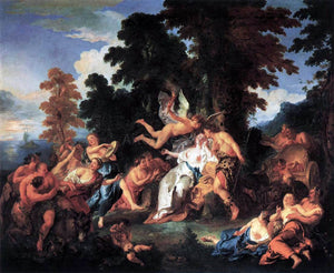 Francois De Troy Bacchus and Ariadne - Canvas Art Print