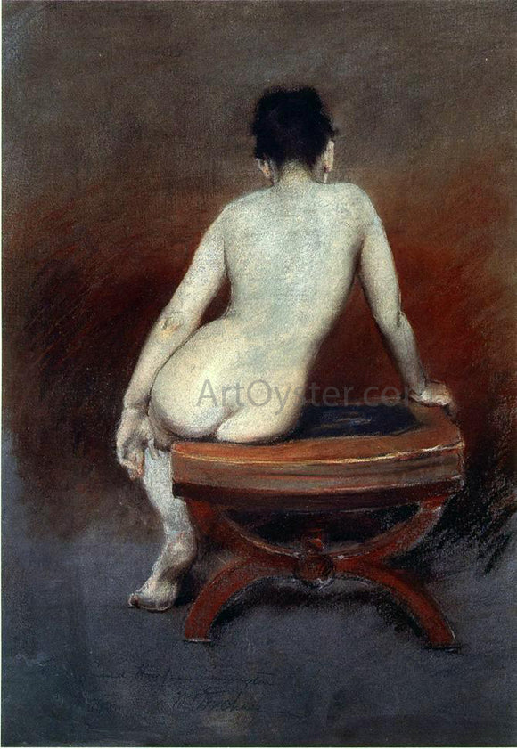 William Merritt Chase Back of a Nude - Canvas Art Print