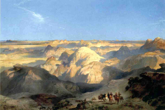 Thomas Moran Badlands of the Dakota - Canvas Art Print